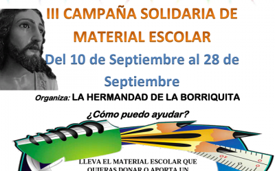 III Campaña solidaria material escolar